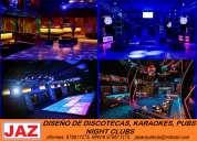 Arquitecto diseÑa y remodela discotecas, karaokes, night clubs,