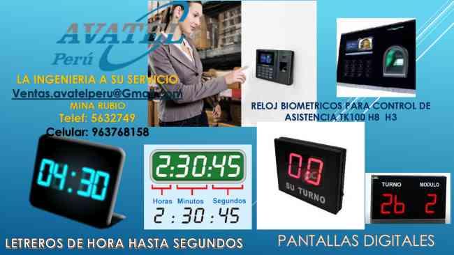 PANTALLAS DIGITALES 2  3 HASTA 6 DIGITOS AVATEL PERU S.A.C.