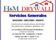 Servicios generales drywall y construcciones