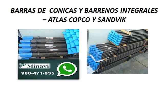 BARRENOS INTEGRALES SANDVIK - ATLAS COPCO TODAS LAS MEDIDAS