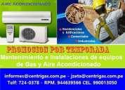 Mantenimiento  y reparacion de aire acondicionado