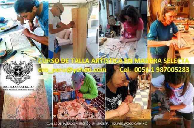 CLASES DE TALLADO ARTÍSTICO EN MADERA – COURSE WOOD CARVING