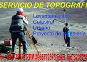 Topografía general, levantamiento topográfico, servicio de topografía