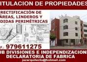 Arquitecto verificador sunarp, lotizaciones, sub divisiones, declaratoria,titulaciones