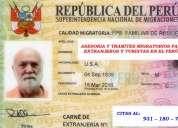 Asesoria y gestiÓn migratoria para extranjeros en el perÚ