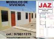 Modulos de vivienda, venta de proyectos, diseño, construcciones, javier acosta