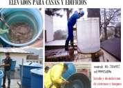 Servicio de lavado y desinfeccion de cisterna de agua para casas y departamento