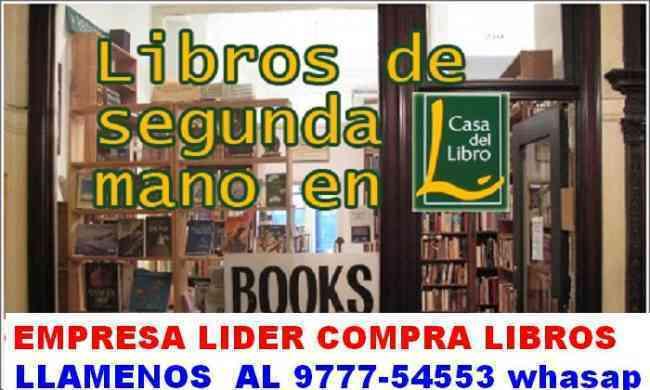 Compro libros usados y nuevos de toda clase,empresa lider los compra.