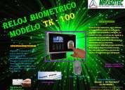 Relojes biometricos  modelo tk100/h3 maxsotec eirl solicÍtelos 5661338