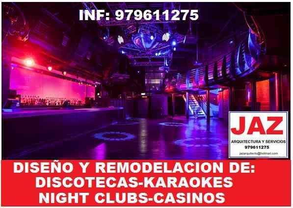 ARQUITECTO DISEÑADOR DE DISCOTECAS, KARAOKES Y NIGHT CLUBS, DISEÑO LED