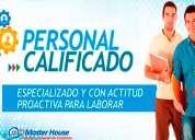 agencia de empleos master house