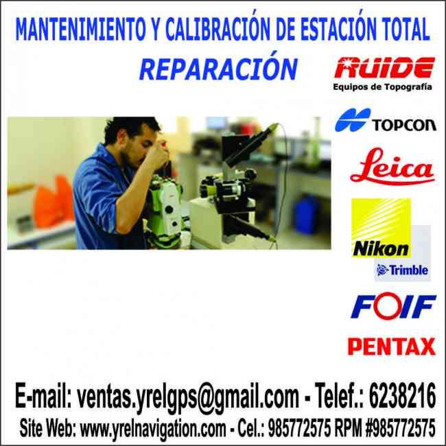 Calibracion Nivel Topcon, Leica, Nikon, Teodolitos electrónicos, Estación Total