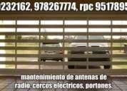 Cercos eléctricos, cámaras de seguridad, alarmas contra incendios, grupos electrógenos