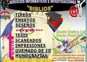 Asesoria para tesis y servicios informÁticos e investigaciones biblios