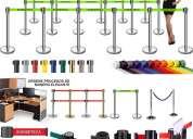 Separador de fila poste linea mixta,poste linea negra ,poste linea cromada