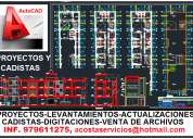 Autocad servicios, venta de archivos, cadistas, digitacion, proyectos