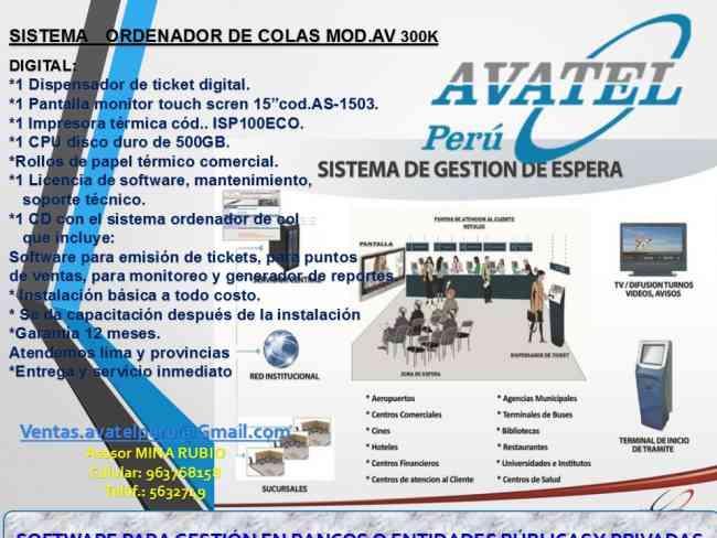 ORDENADORES DE COLAS CON SOFTWARE/56323749 SAN MIGUEL