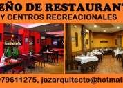 DiseÑo de restaurantes, recreos, centros recreacionales, cevicherias, pollerias