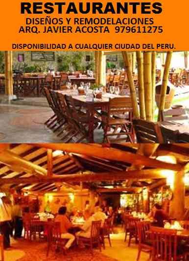 ARQUITECTO DISEÑADOR DE RESTAURANTES, chiclayo, jaen, bagua, chachapoyas, cajamarca