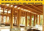 Proyectos y construcciones rusticas en bambu, restaurantes, recreos, bungalos