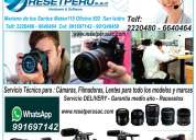 Reparacion camaras , filmadoras , lentes , servicio tecnico en lima