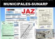 Sub divisiones e independizaciones, expedientes municipales, cofopri, sunarp, indeci