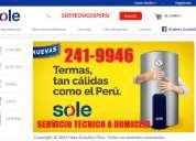 100% servicio técnico termas & termotanques sole a gas y eléctrica (sos// 241-9946)