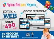 Diseño de páginas web responsive - publicite su negocio en internet