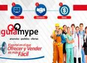 Anúnciate ahora en portal  tu guía mype