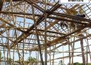 DiseÑo y construccion en bambu, madera, piedra laja, botellas, restaurantes, recreos