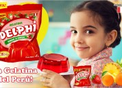 Venta gelatina fresa - gelatina delphi, lima