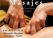 Alexander masajista masculino  para caballeros