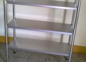 Estante mesa lavafondo congeladora acero inoxidable