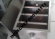 Trampa de grasa lavadero mesa cocina campana acero inox