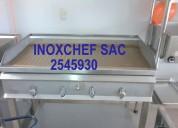 Cocina mesa lavadero estante freidora acero inox