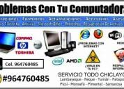 Servicio tecnico: reparacion y mantenimiento de computadoras y laptops a domicilio chiclayo