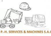 Demoliciones y excavaciones p.-h. services & machines s.a.c /rpc:972260035