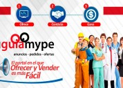 Publique su negocio en nuestro portal - tu guia mype