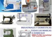 Servicio tecnico para maquinas de coser a domicilio.industriales,semi industriales y domesticas