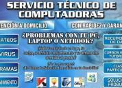 Servicio tecnico a domicilio computadoras