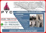 ConstrucciÓn y remodelaciÓn en drywall