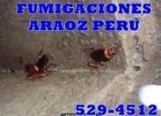Fumigacion fumigaciones para cucarachas en chorrillos miraflores san borja surco 982568705