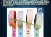 ROLLOS DE TICKETS DE 03 DIGITOS