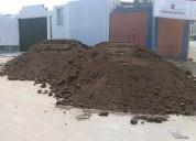 Eliminación de desmonte tierra de chacra para pozo arena afirmado, demoliciones excavaciones, etc.
