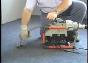 Servicio maquina electrica  desatoro, limpieza ducto desague