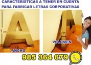 Fabricante de letras corporativas acero bronce aluminio fierro acrÍlico lima-peru  lima cercado
