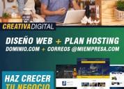 (oferta) diseÑo web para profesionales, pymes y empresas