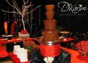Alquiler de fuentes y cascadas de chocolate