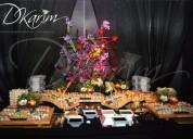 Catering, mesas, buffets para eventos