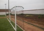 redes perimetrales  malla cuadrada para canchas de futbol rapido ,  futbol siete,